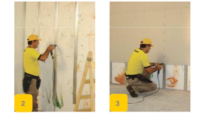 Como trabajar con durlock revestir una pared con humedad - Aislante humedad paredes ...