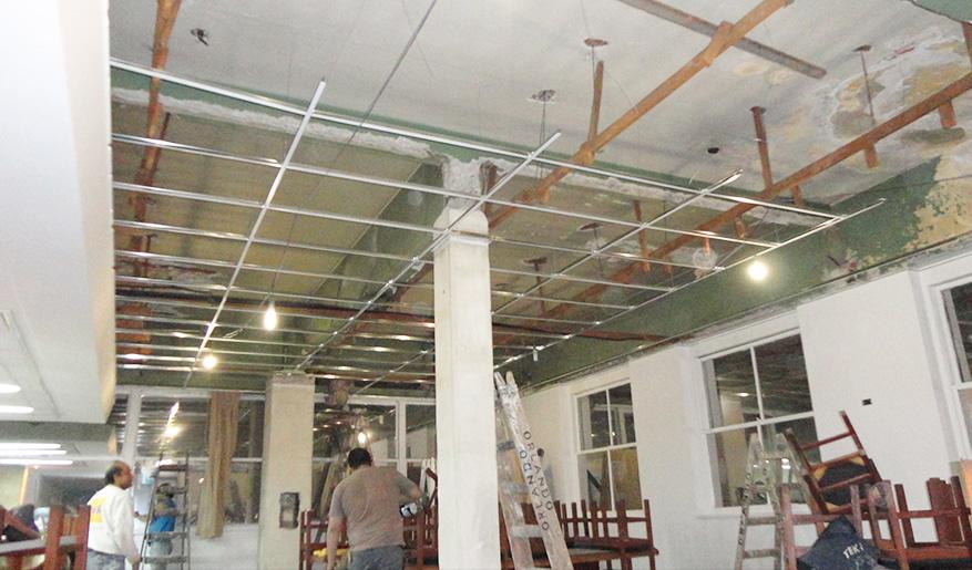 Colocacion de durlock construccion en seco for Cielorrasos de casas